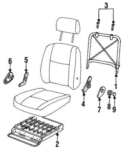 1993 Chevrolet Lumina Apv Interior: OEM Seat Components For 1993 Chevrolet Lumina APV