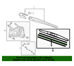 Blade, Windshield Wiper (250MM) - Honda (76730-T7A-003)