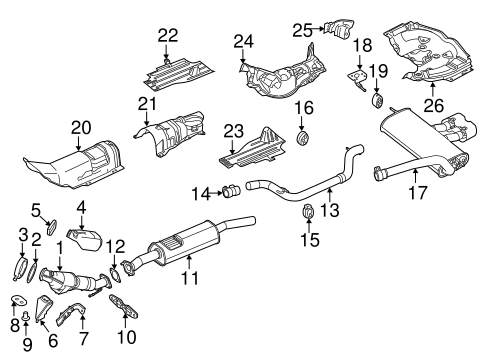 Exhaust Components For 2014 Ford Focus Blue Springs Ford Parts