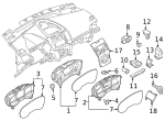 Headlamp Switch - Ford (F2GZ-11654-EA)
