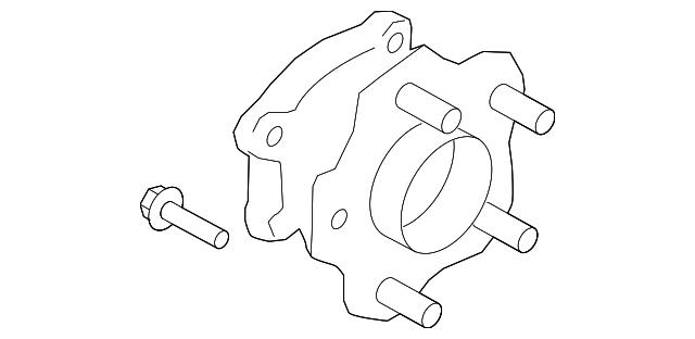 genuine nissan hub assembly 43202