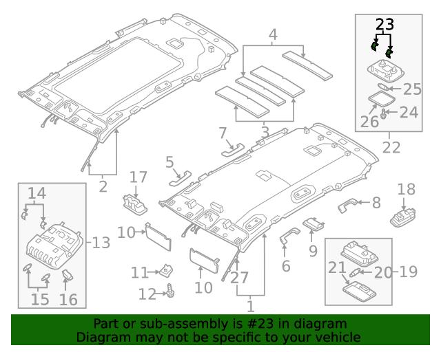 Genuine Hyundai 85220-B8600-VYN Sun Visor Assembly Right