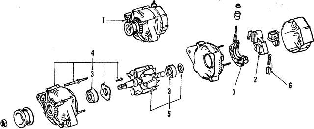Alternator - Toyota (27060-61100-84)