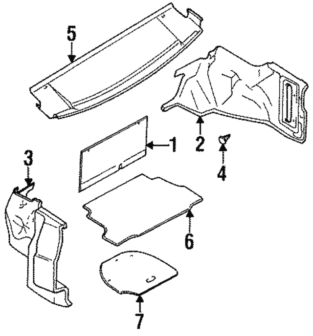 1995 2006 Nissan Trunk Side Trim Clip 01553 04691