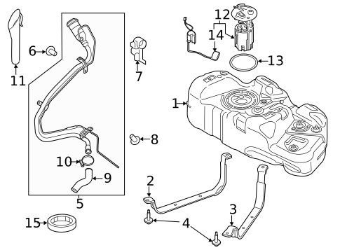 Fuel System Components For 2014 Ford Transit Connect