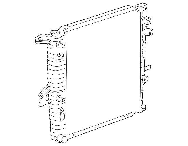1996 Ford Ranger Radiator Diagram