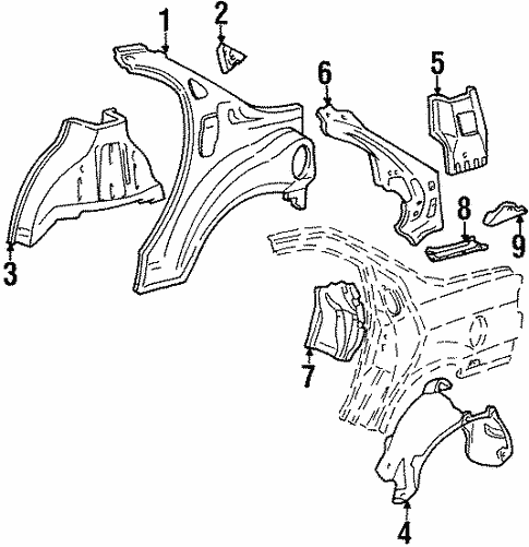 Inner Structure for 1996 Ford Contour #0