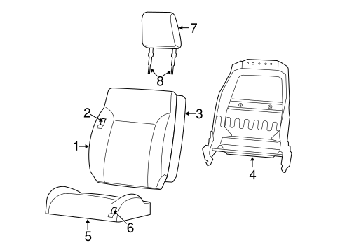 Front Seat Components For 2010 Dodge Nitro