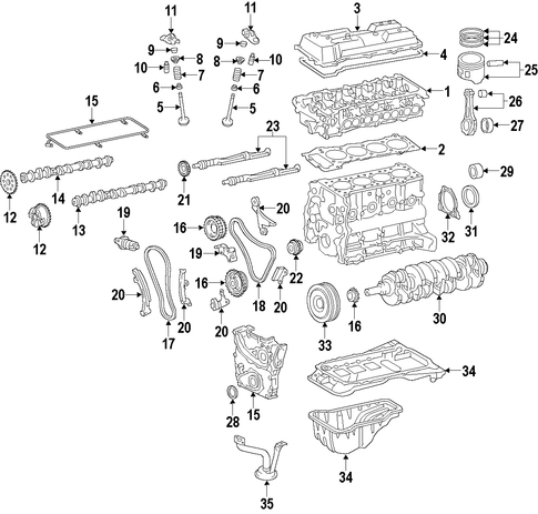 genuine oem engine parts for 2016 toyota tacoma sr5 ... ford 4 0 liter sohc engine diagram 4 5 liter toyota engine diagram