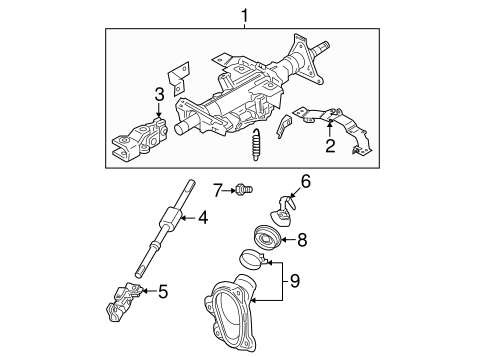 Steering Column Assembly For 2005 Infiniti G35