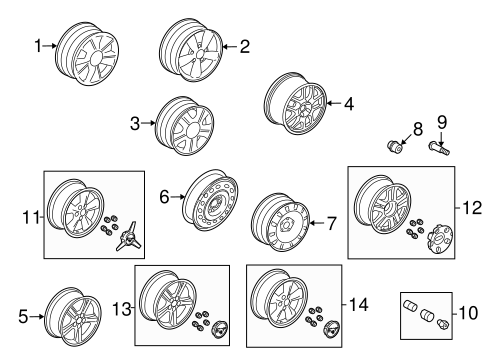 Front Suspension/Wheels for 2006 Ford Mustang #1