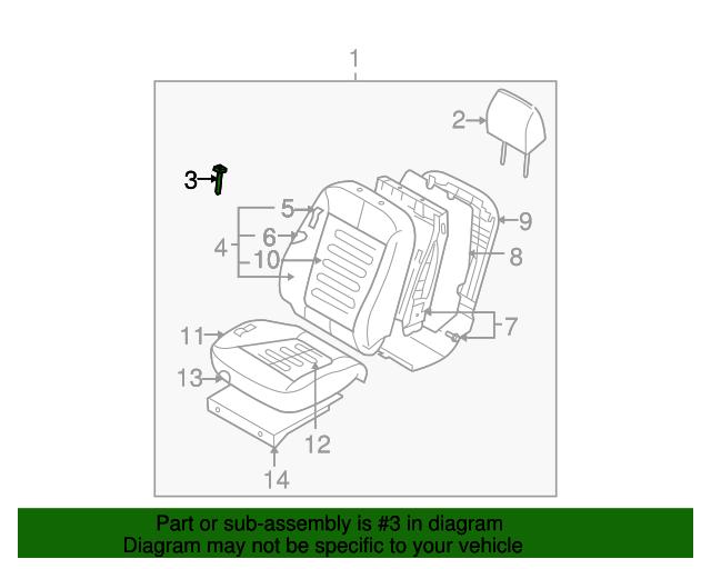 Rear Genuine Hyundai 89700-2B000-J9Y Seat Headrest Assembly