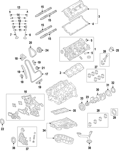 Genuine Oem Engine Parts For 2008 Toyota Highlander Sport