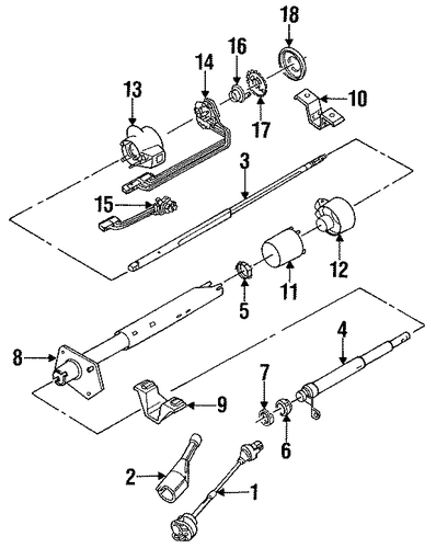 1993 Chevy C1500 Steering Column Diagram : oem steering column assembly for 1993 gmc suburban c1500 ~ A.2002-acura-tl-radio.info Haus und Dekorationen