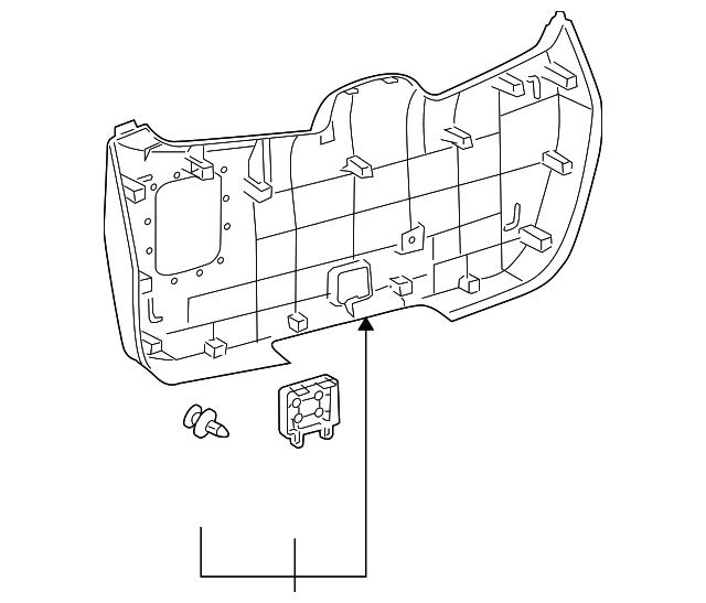 2008 2013 Toyota Highlander Lower Trim Panel 64780 48070 B0