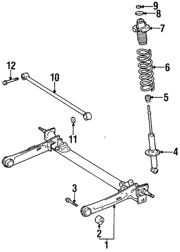 REAR SUSPENSION/REAR SUSPENSION for 1996 Toyota Tercel #1