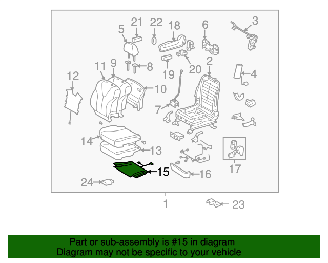 TOYOTA Genuine 71612-0T010 Seat Cushion Pad