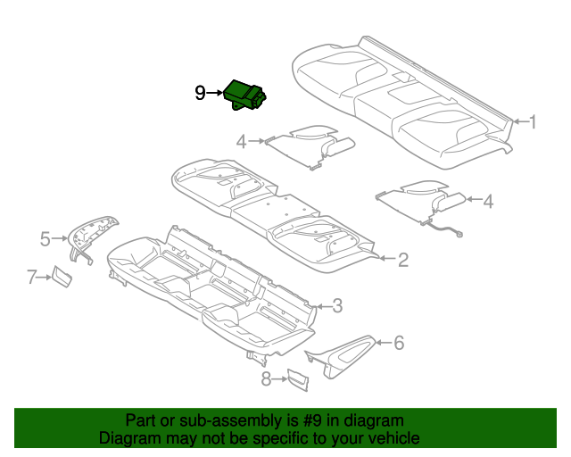 Genuine Ford Seat Heater Control Module 9U5Z-14C724-A