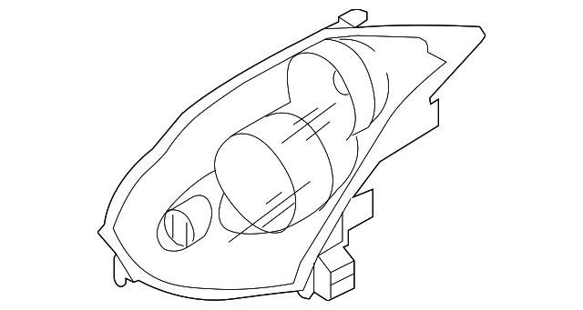 2006 2007 Infiniti G35 Composite Headlamp 26075 Cm40c