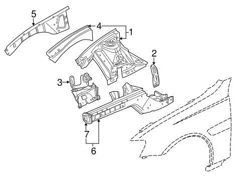 Structural Components Rails For 2015 Chevrolet Caprice