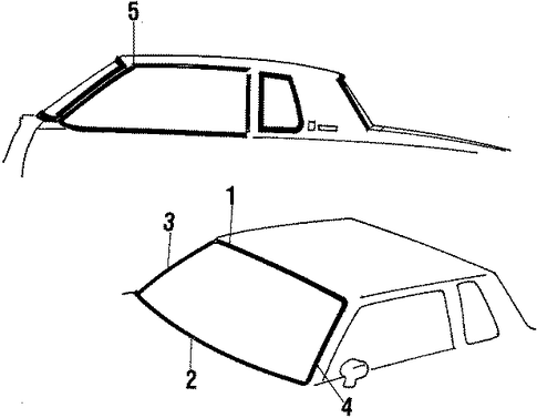 Body/Exterior Moldings for 1984 Oldsmobile Cutlass Supreme #2