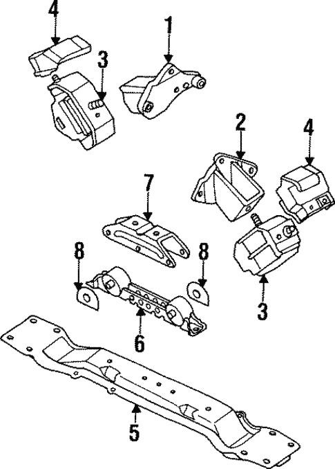 Engine Mounting For 1997 Mitsubishi Montero