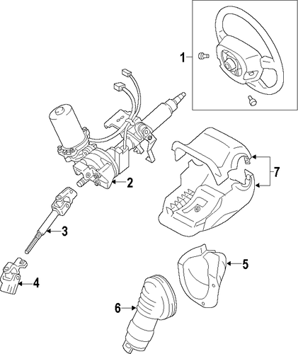STEERING/STEERING COLUMN for 2012 Toyota Yaris #1