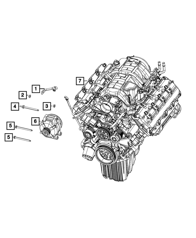 Alternator Stud - Mopar (6509490AA)