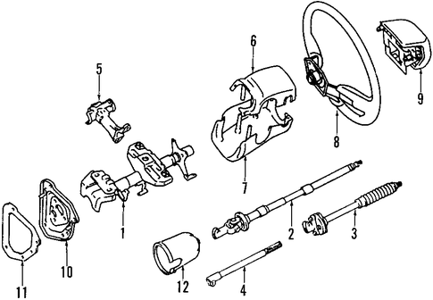 STEERING/STEERING COLUMN for 1997 Toyota T100 #2