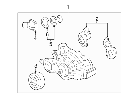 Wiring Diagram For 98 Lincoln Navigator moreover Gm Radiator 23104892 additionally Gm Water Pump 19208815 likewise 92244381 likewise 22805444. on 2014 gmc sierra all terrain