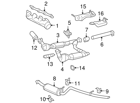 exhaust manifold for 2006 ford f-150 ford contour intake manifold diagram ford exhaust manifold diagram #8