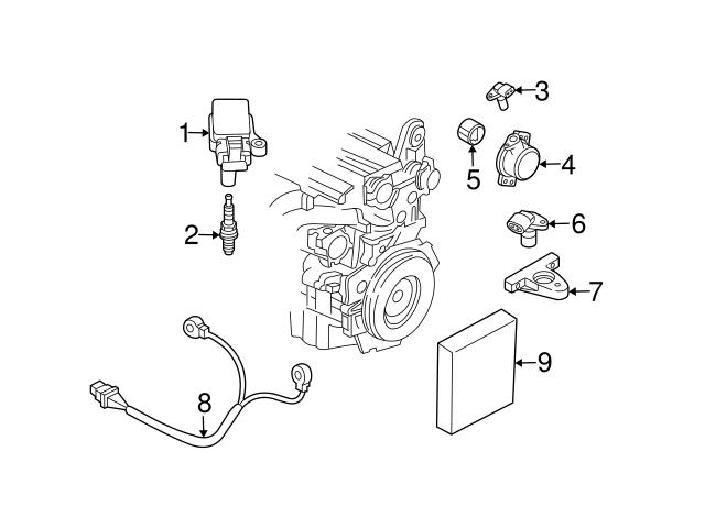 For 2003-2015 Volvo XC70 Engine Crankshaft Position Sensor Connector SMP 18569JG