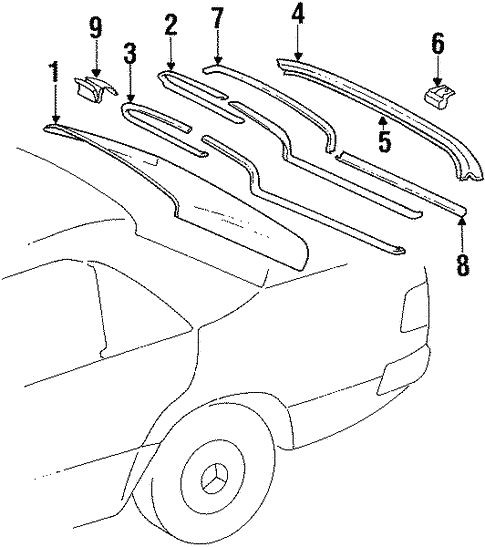 Reveal Moldings for 1992 Mercedes-Benz 400 E #0