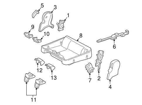 BODY/TRACKS & COMPONENTS for 2002 Toyota Sequoia #7