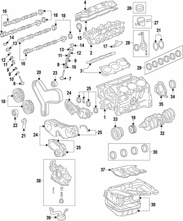 2008 Mazda Cx 9 Camshaft: 1991-2008 Toyota Camshaft Seal 90311-38034
