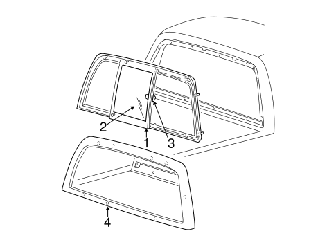 Body/Glass & Hardware - Back for 2001 Ford F-150 #1