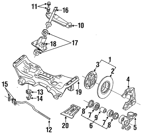 Front Suspension For 1990 Subaru Loyale