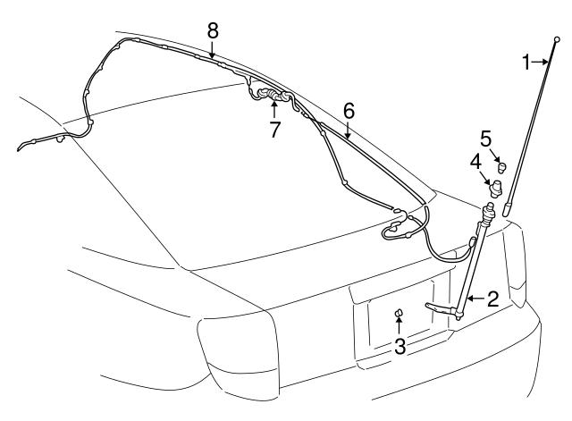 2000 2005 Toyota Celica Tube Assembly 86309 20300
