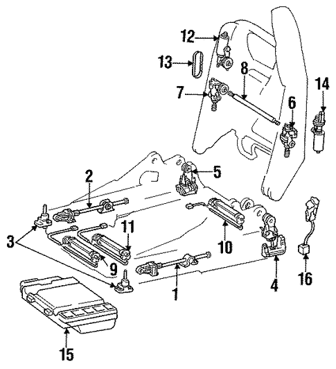 Front Seat Components For 2002 Mercedes Benz Sl 500
