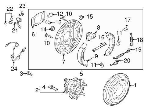 Rear Brakes for 2017 Hyundai Elantra   Delray Hyundai Parts   Hyundai Brakes Diagram      Hyundai OEM Parts