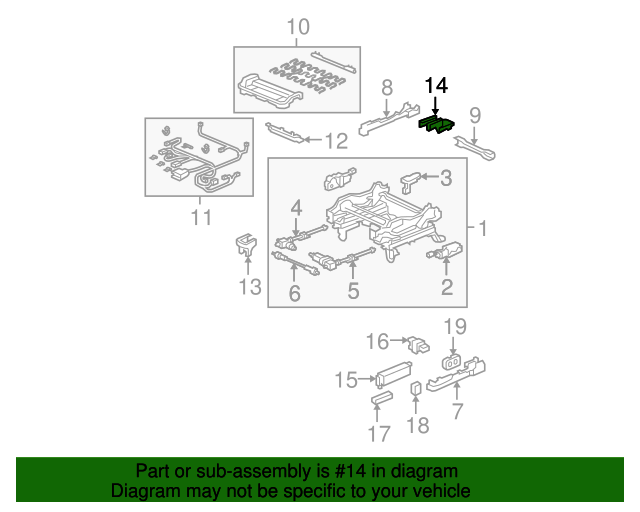 Honda Genuine 81507-SWA-A51ZA Seat Foot Cover