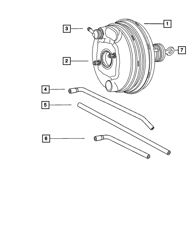 Genuine Chrysler 68038555AD Power Brake Booster