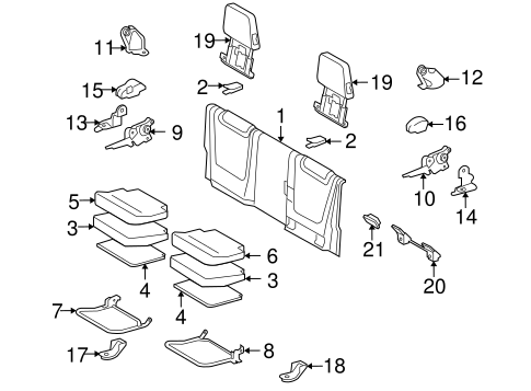 BODY/REAR SEAT COMPONENTS for 2013 Toyota Tacoma #1