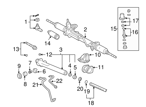 STEERING/STEERING GEAR & LINKAGE for 1998 Toyota Tacoma #2