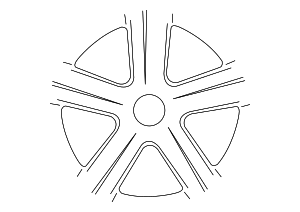 Wheel, Alloy - Volkswagen (561-601-025-S-8Z8)