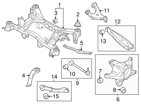 Rear Suspension for 2018 Subaru Outback | Subaru Parts Center