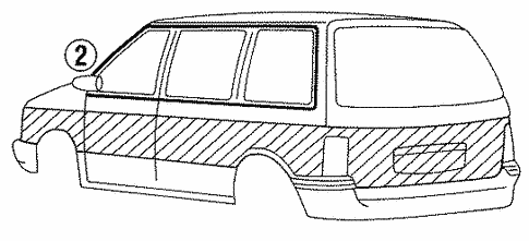 Stripe Tape for 1993 Chrysler Town & Country #0