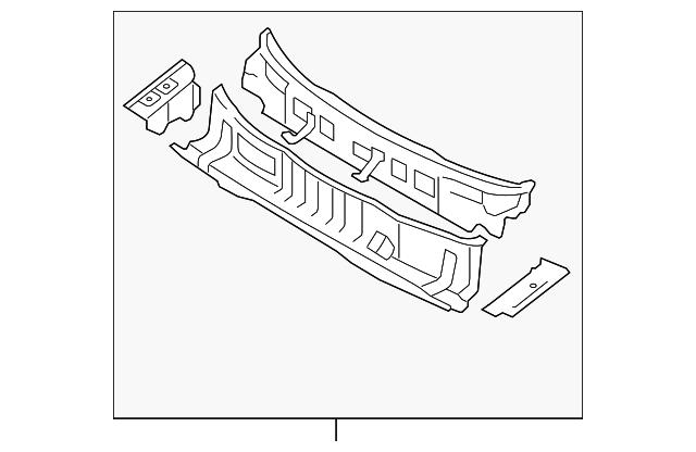 Genuine Hyundai 66700-2H010 Complete Cowl Panel