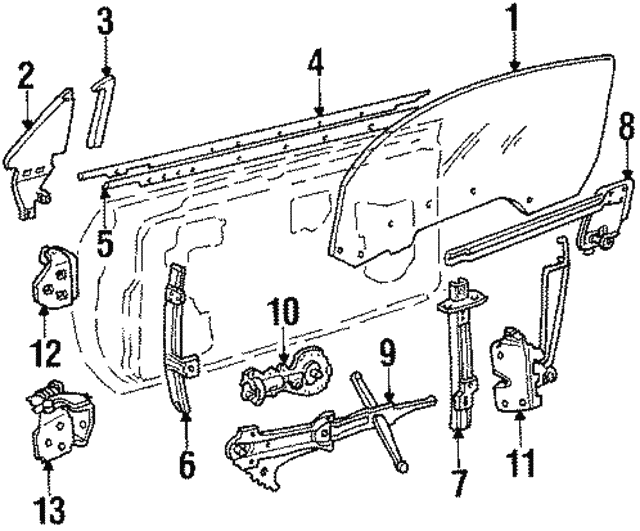 Window Regulator - GM (16625041) | TascaParts.com on gm starter diagram, gm headlight switch diagram, gm brake shoes diagram, gm fan clutch diagram, gm power brake booster diagram, gm horn diagram, gm steering column diagram, gm alternator diagram, gm ignition module diagram, gm seat motor diagram, gm engine diagram, gm transmission diagram, gm distributor diagram, gm speaker diagram, gm fuel line diagram, gm neutral safety switch diagram, gm fuse box diagram, gm brake proportioning valve diagram, gm relay diagram, gm carburetor diagram,