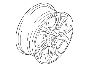 Wheel, Alloy - Ford (GN1Z-1007-U)